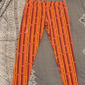 Rare Fila Art Deco Print Leggings